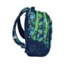 Kép 3/3 - Színes háromszög mintás hátizsák, iskolatáska - 3 rekeszes - Zöld-kék (18-2808RG/16)