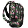 Kép 2/3 - Virágos iskolatáska, hátizsák - 3 rekeszes - Nagy virágok (PPLK19-2808)