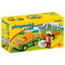 Kép 1/5 - Playmobil 1.2.3 - Állatkerti autó orrszarvúval játékszett