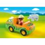 Kép 4/5 - Playmobil 1.2.3 - Állatkerti autó orrszarvúval játékszett