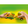 Kép 5/5 - Playmobil 1.2.3 - Állatkerti autó orrszarvúval játékszett