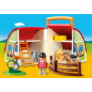 Kép 2/5 - Playmobil 1.2.3 - Hordozható lovardám játékszett
