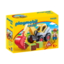 Kép 1/4 - Playmobil 1.2.3 - Lapátos kotrógép játékszett