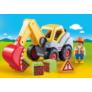 Kép 2/4 - Playmobil 1.2.3 - Lapátos kotrógép játékszett